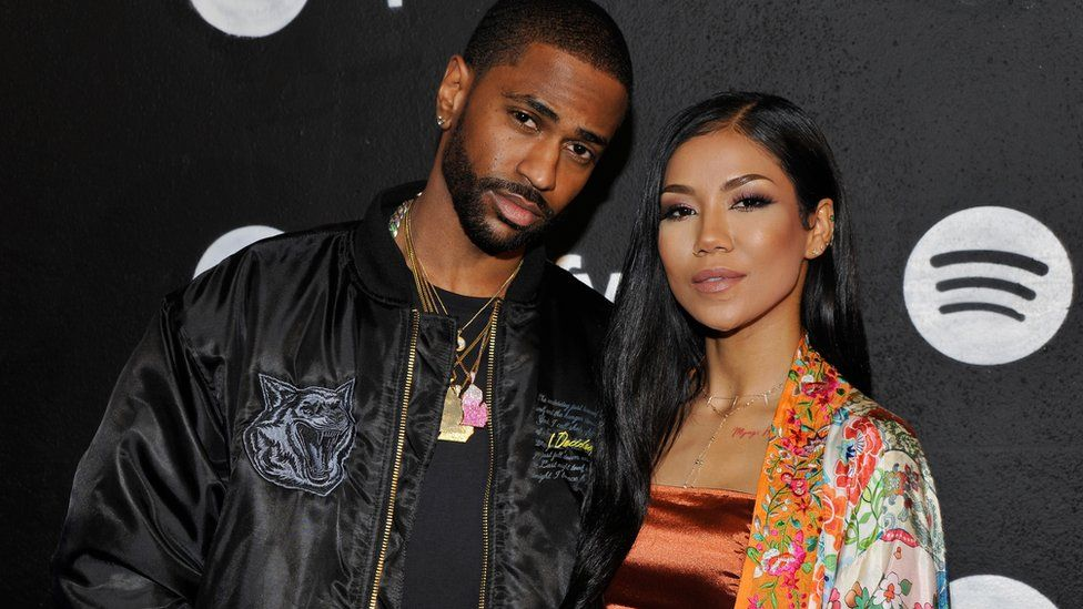 Rapper Big Sean and singer Jhene Aiko at a Spotify awards bash in Los Angeles in February