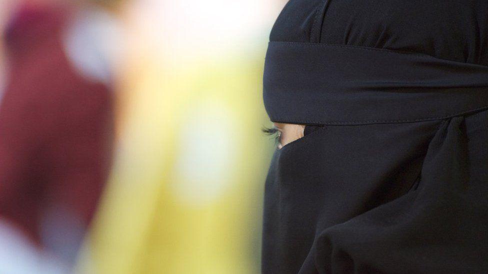 Generic Image: Woman wearing a black Niqab