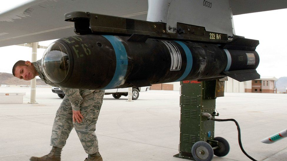 What is US's secret Hellfire missile used in Afghanistan