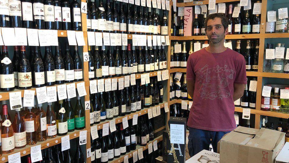 Ezequiel Gomez-Gibson, manager at Cambridge Wine Merchants