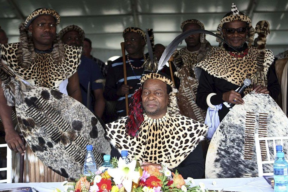 Zulu monarch King Goodwill Zwelithini celebrates Shaka Day on September 24, 2010 in KwaZulu-Natal, South Africa