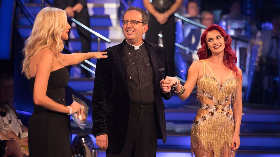 Tess Daly, The Reverend Richard Coles and Dianne Buswell