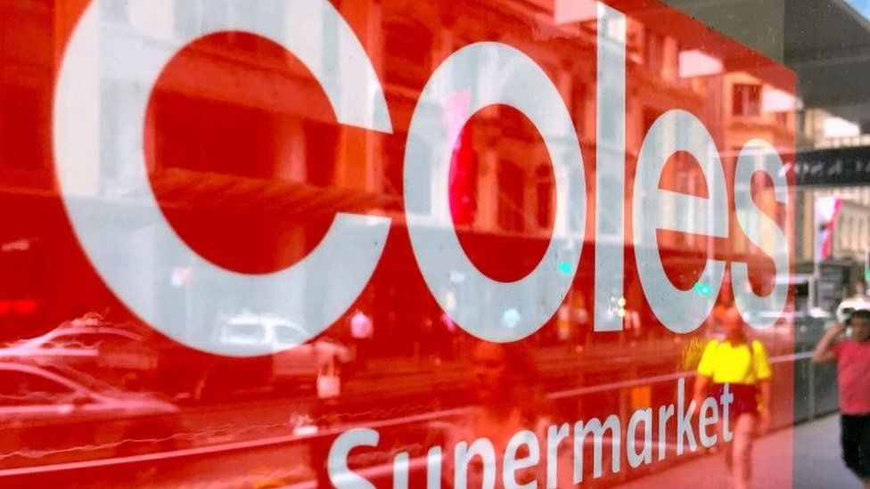 A sign for Coles supermarkets
