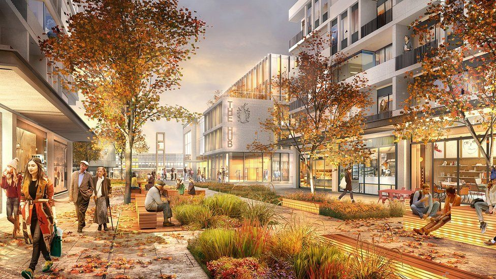 Artist's impression of the redeveloped Stevenage town centre.