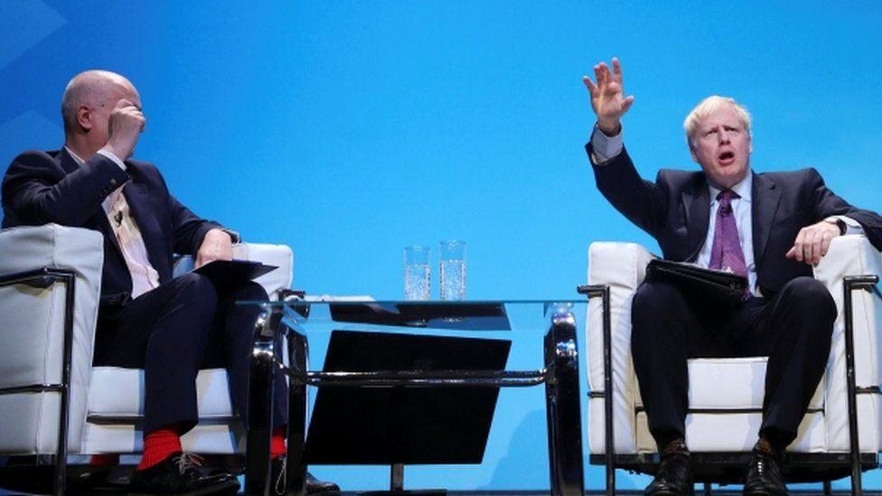 Iain Dale and Boris Johnson