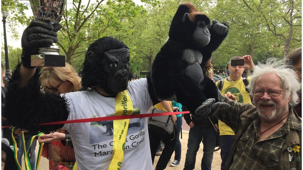 Mr Gorilla completes his course