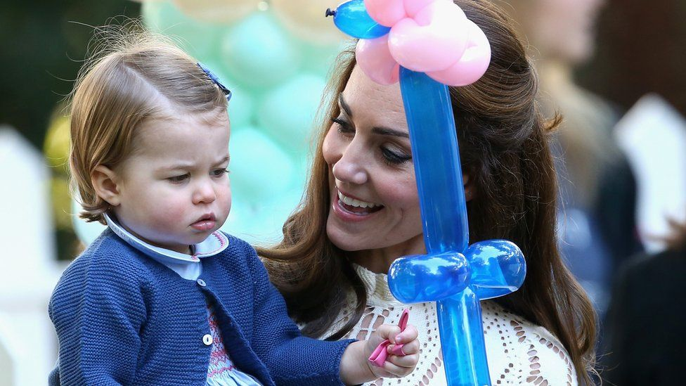 Princess Charlotte with a balloon