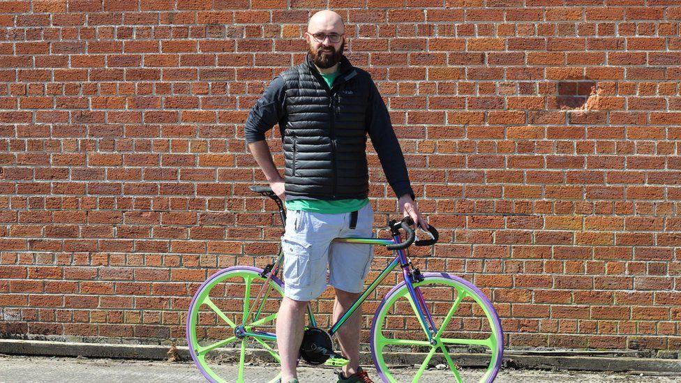 Andrew Hassard of Mango Bikes in Ballyclare, Northern Ireland