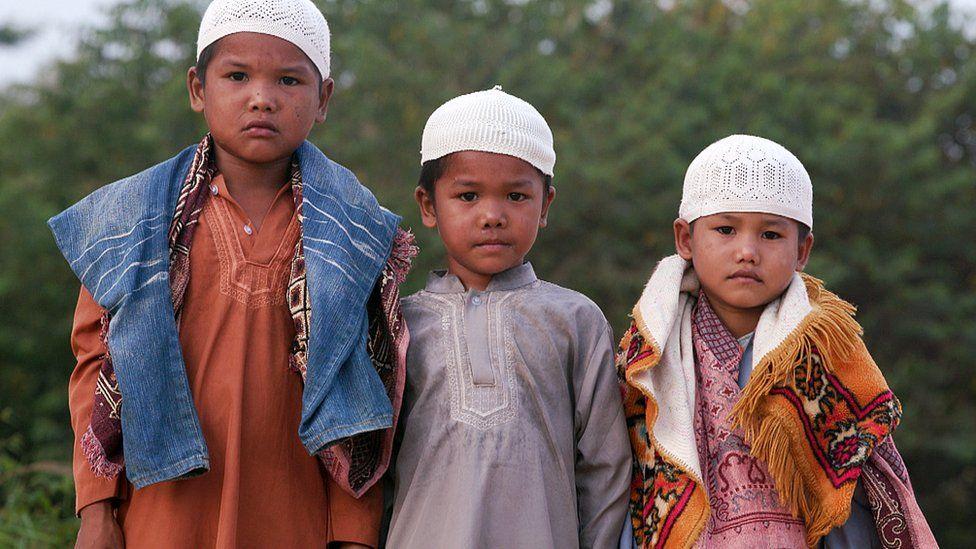 Orang Rimba boys who have converted to Islam