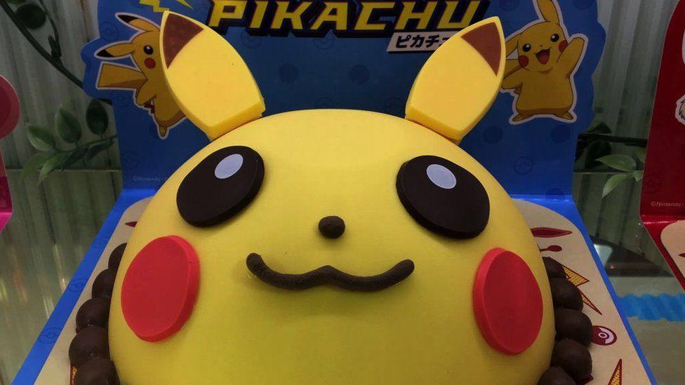 A Pikachu cake