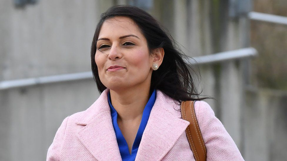Home Secretary Priti Patel arrives to attend a cabinet meeting held at the National Glass Centre at the University of Sunderland on January 31, 2020 in Sunderland, United Kingdom