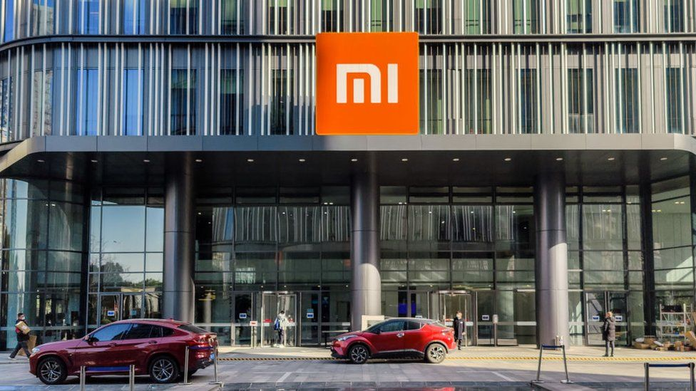 Cars outside Xiaomi headquarters.