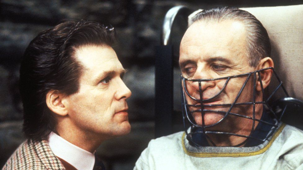 Anthony Hopkins with Anthony Heald in The Silence of the Lambs