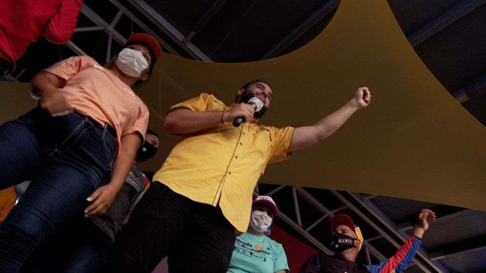 Venezuelan President Nicolas Maduro's son Nicolasito campaigns