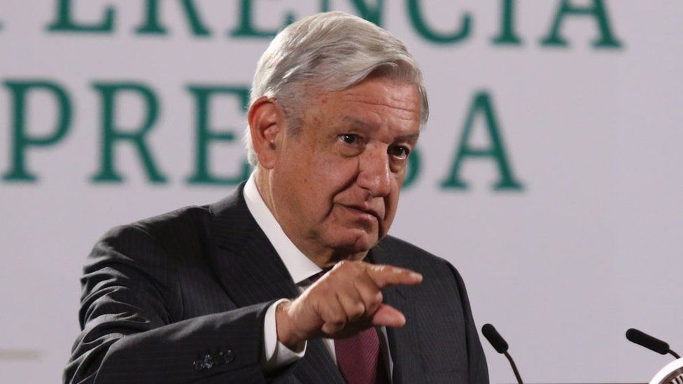 Mexican President Andres Manuel Lopez Obrador spoke about Mexican election at his daily briefing at National Palace on 2 June 2021 in Mexico City,