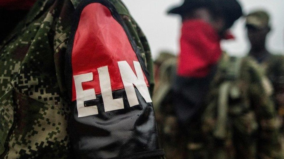 This file photo taken on November 19, 2017 National Liberation Army (ELN) guerrilla