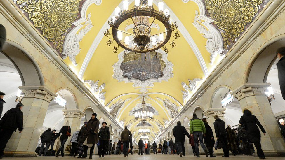Komsomolskaya metro station was opened in 1952