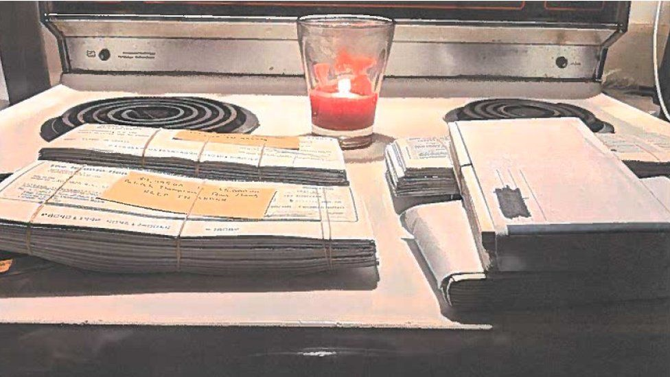A photo of bank drafts submitted in Quadriga court documents