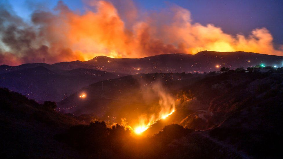 A wildfire has burned Thousand Oaks on Thursday night and throughout Friday
