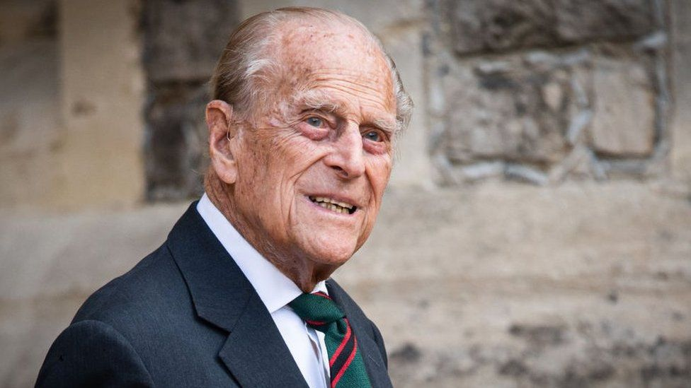 The Duke of Edinburgh seen at his latest public appearance in July 2020