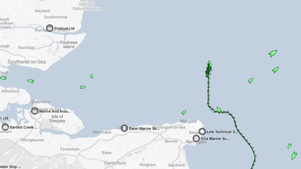 Screen grab from marinetraffic.com