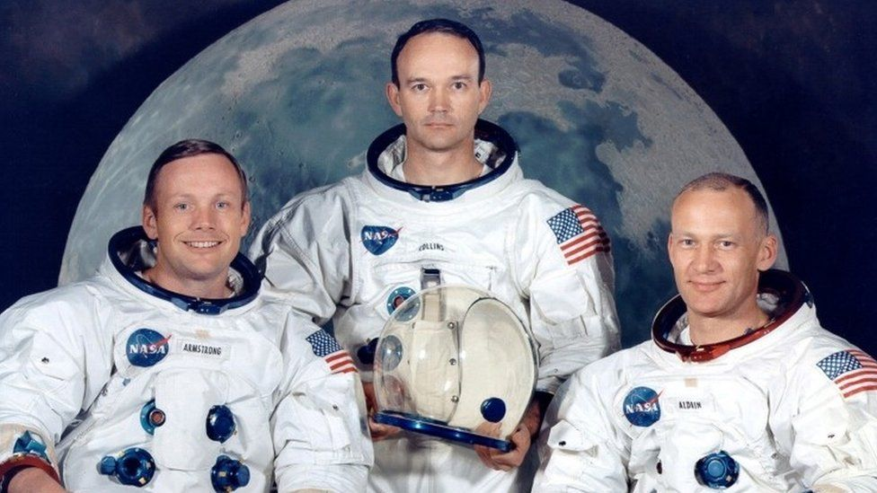 Neil Armstrong, Michael Collins and Buzz Aldrin,