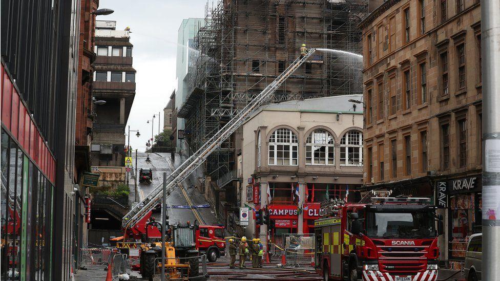Firefighters tackle art school fire