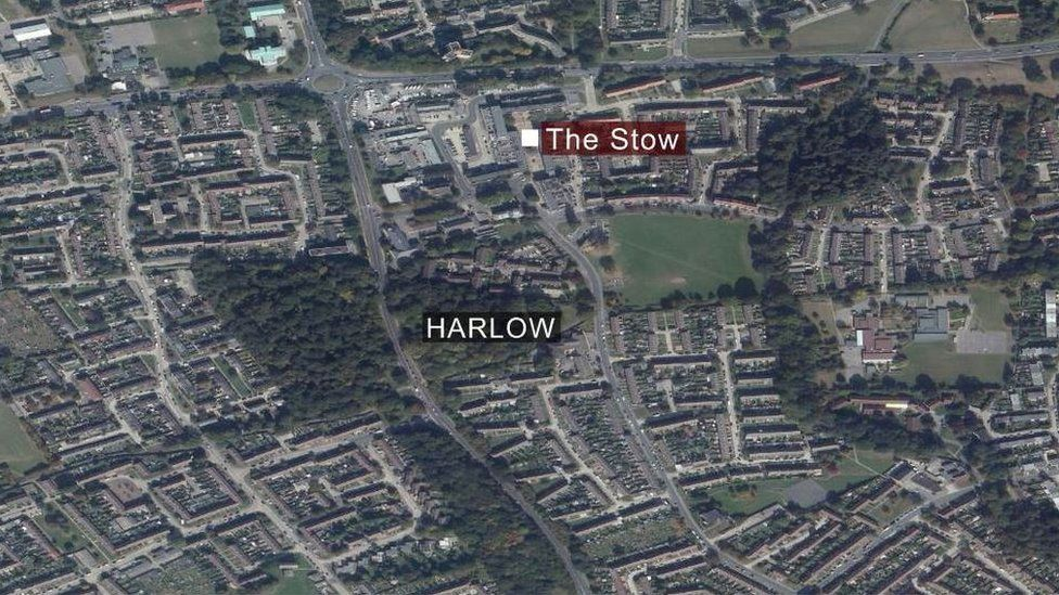 Map of The Stow, Harlow