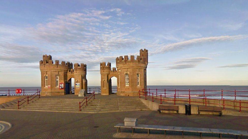 Withernsea pier gates