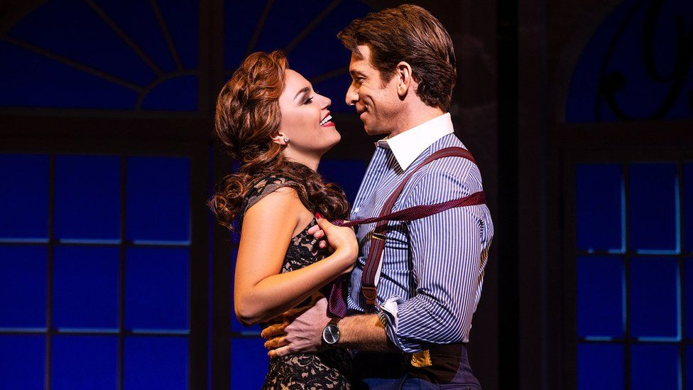 L to R: Samantha Barks and Andy Karl