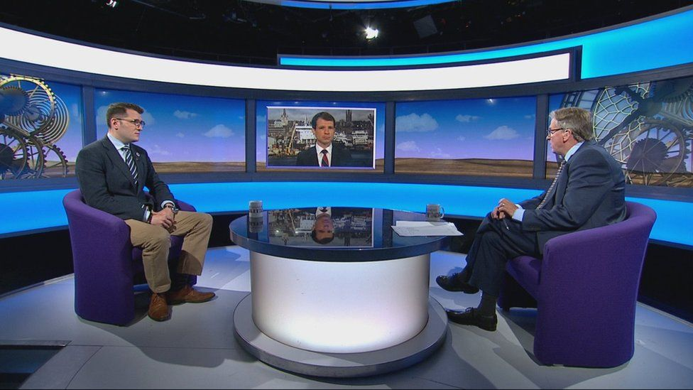 Labour MP Paul Sweeney and Conservative MP Andrew Bowie on Sunday Politics Scotland