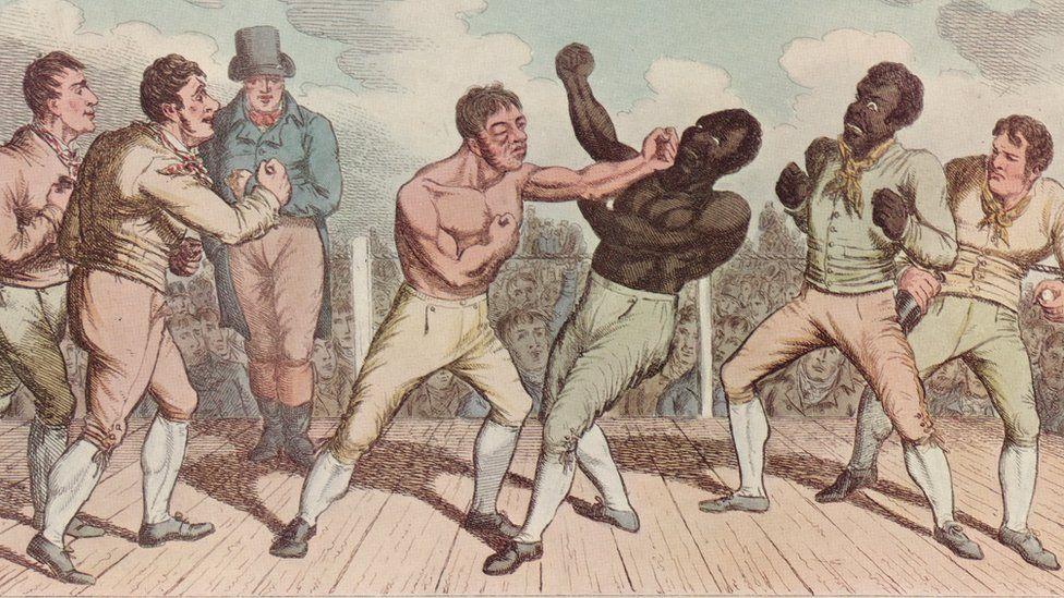 Tom Cribb (left) fighting Tom Molineaux