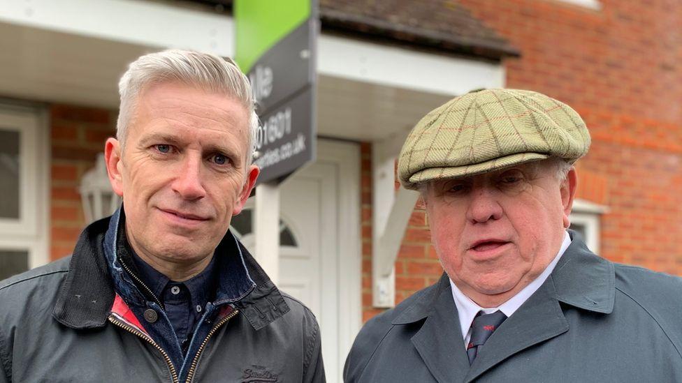 Fergus Wilson (right) with BBC Panorama's Richard Bilton