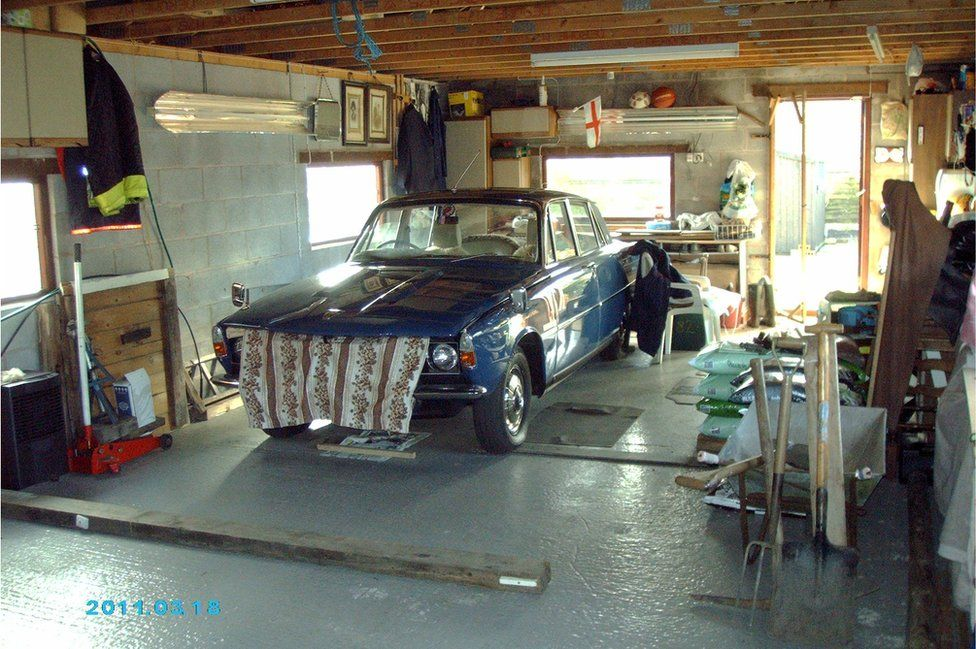 Rover in a garage