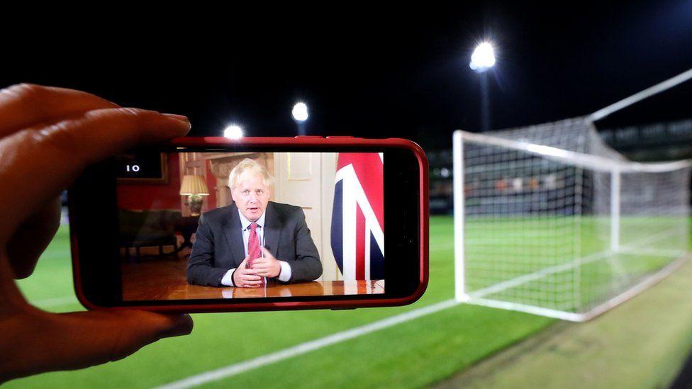 Boris Johnson on smartphone screen