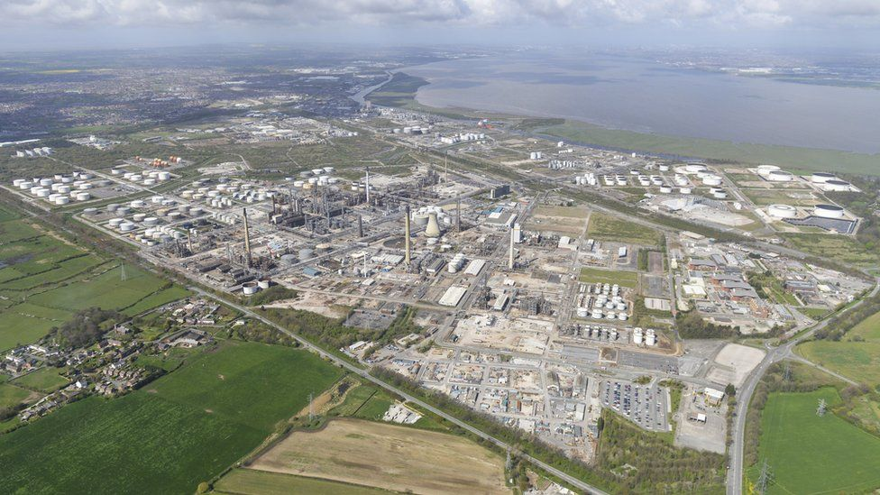 Aerial shot of Stanlow refinery