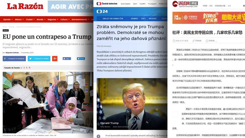 Screengrabs from newspaper websites