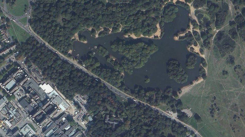 Aerial view of Hollow Ponds