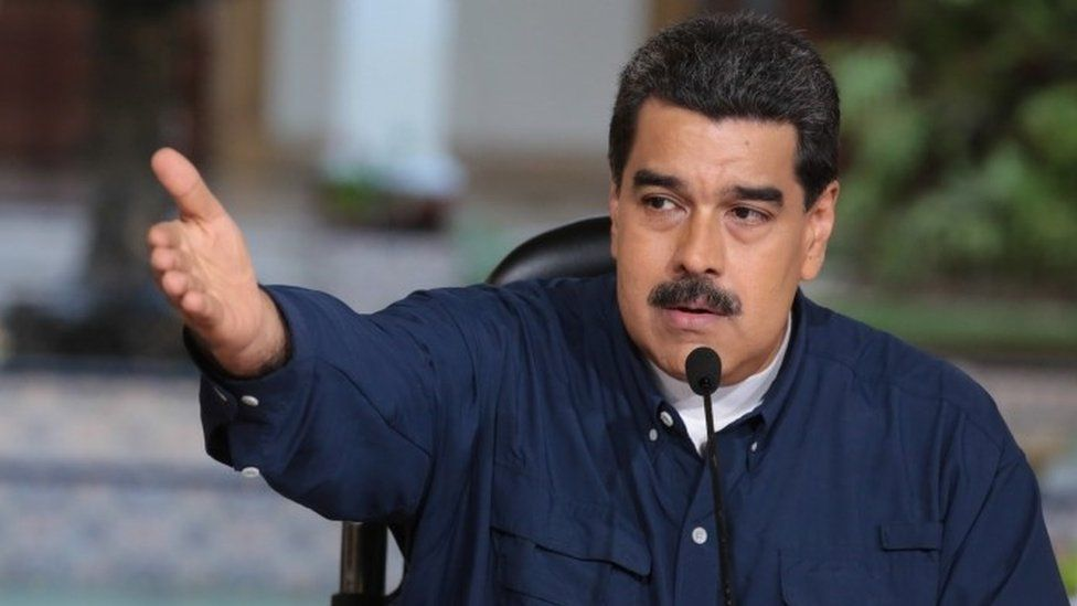 A handout photo made available by Miraflores Press Office shows president of Venezuela Nicolas Maduro while participating in a government event in Caracas, Venezuela, 25 August 2017