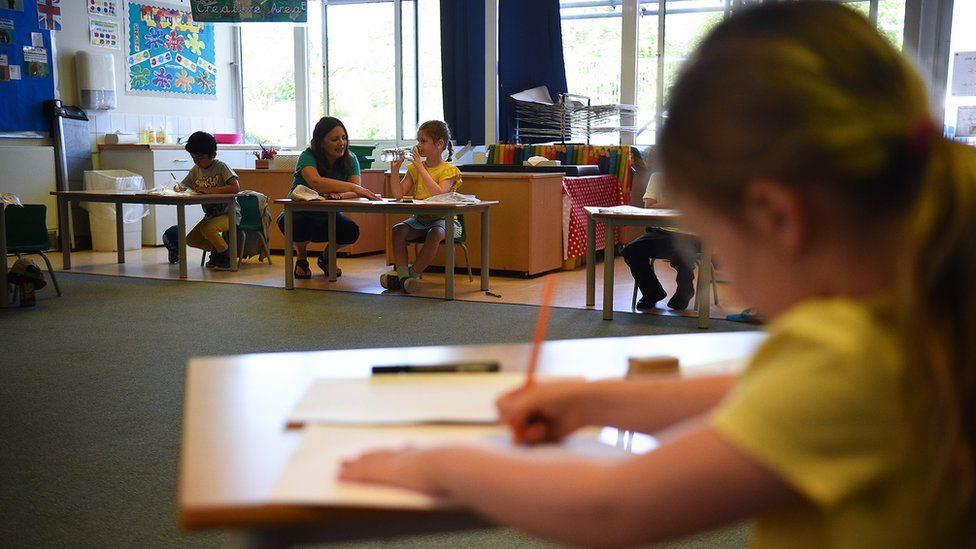 Children at a school in Hampshire