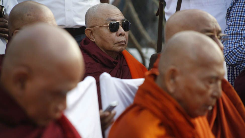 Burma's most senior monks officiate at the memorial ceremony