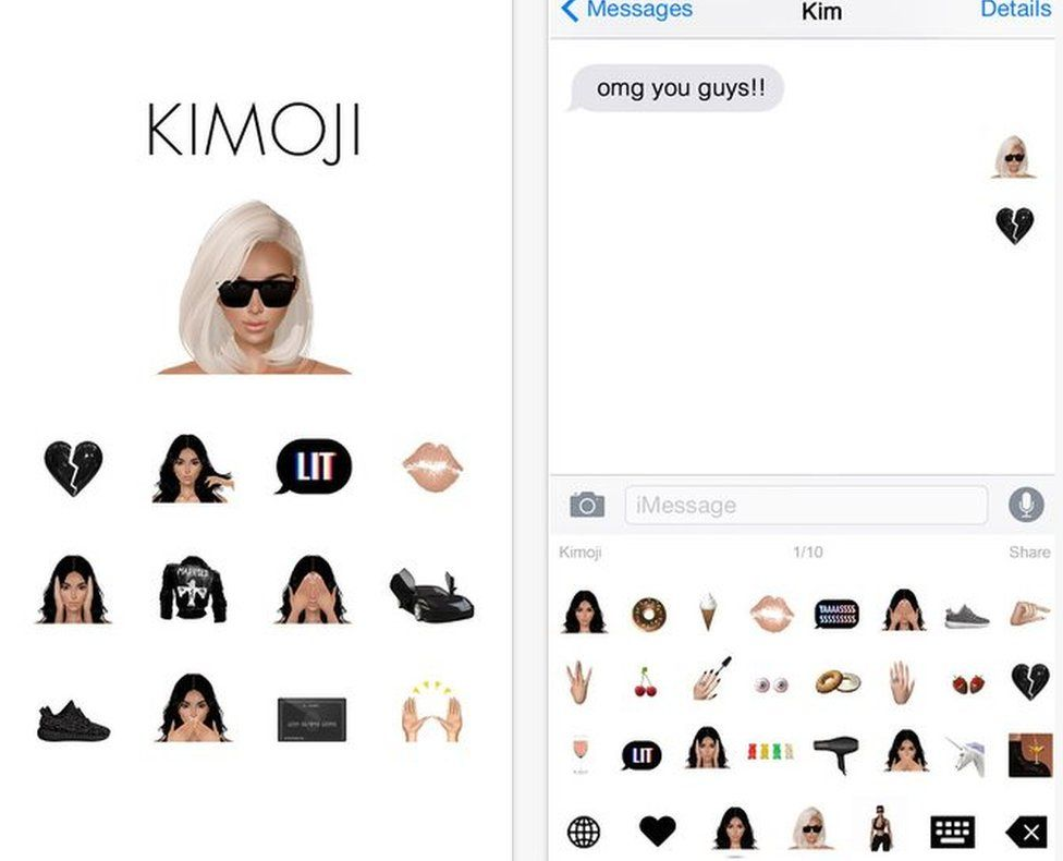 Screengrab of Kimoji app on iTunes