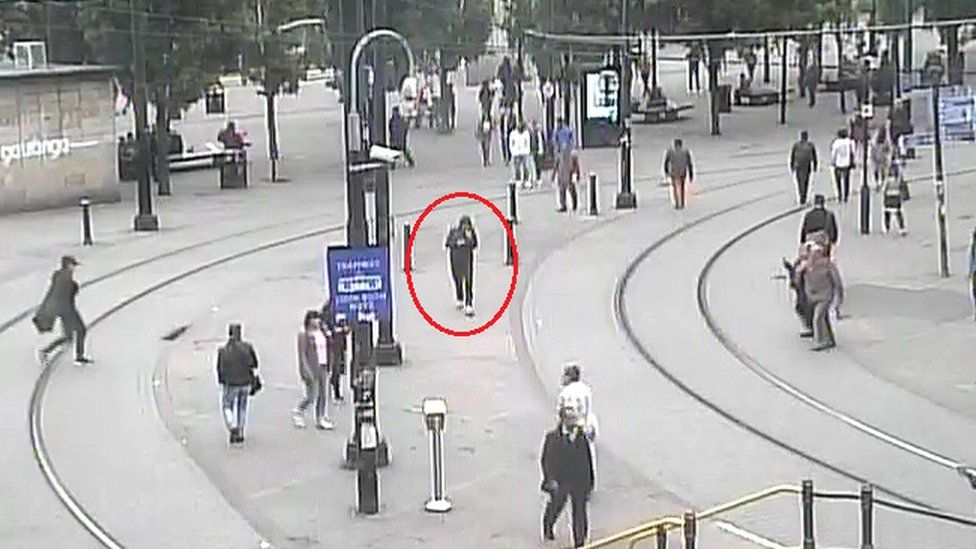 Salman Abedi on CCTV in Manchester