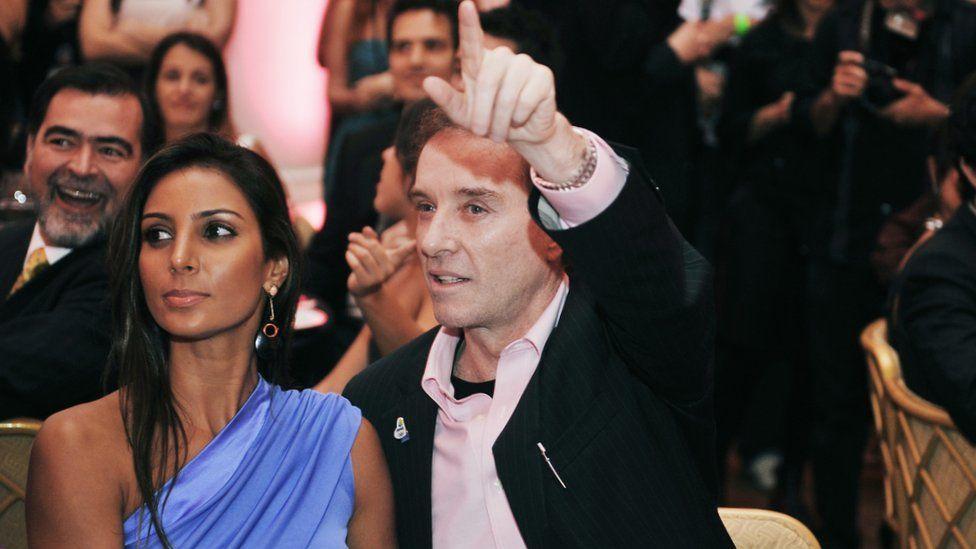 Eike Batista with girlfriend Flavia Sampaio