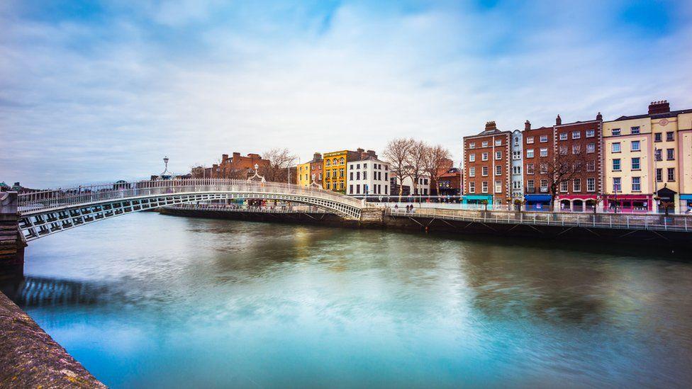 The Liffy River in Dublin