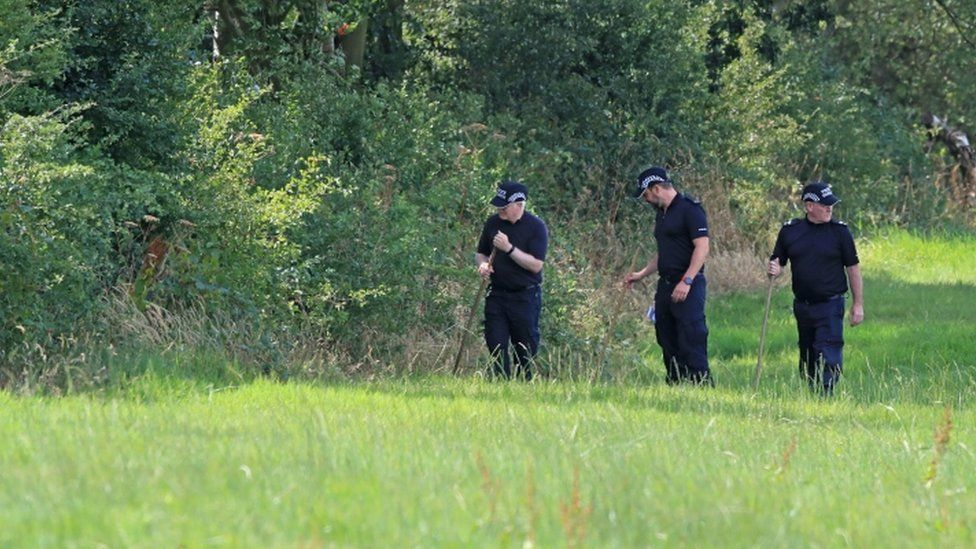 Staffordshire Police during the search for Ms Eastwood