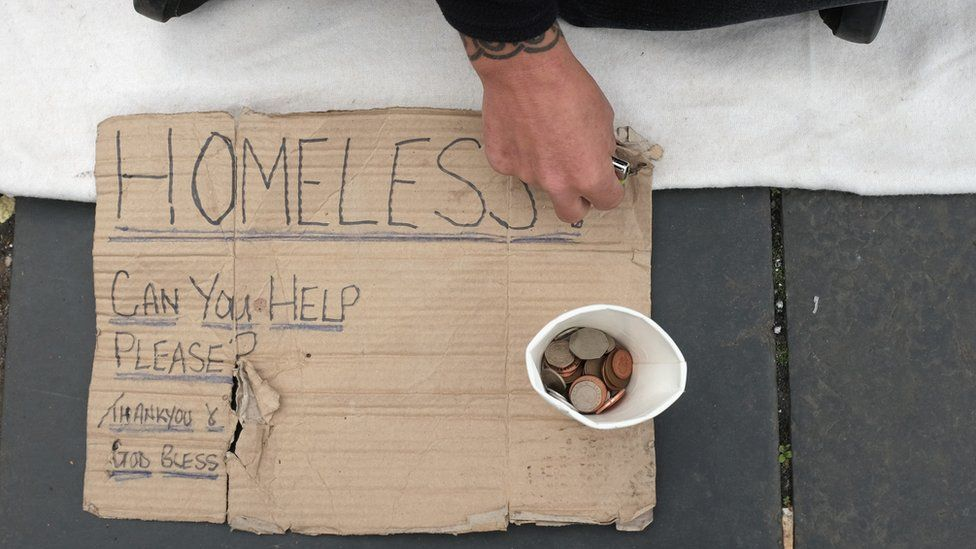 There are more than 300,000 homeless people in Britain