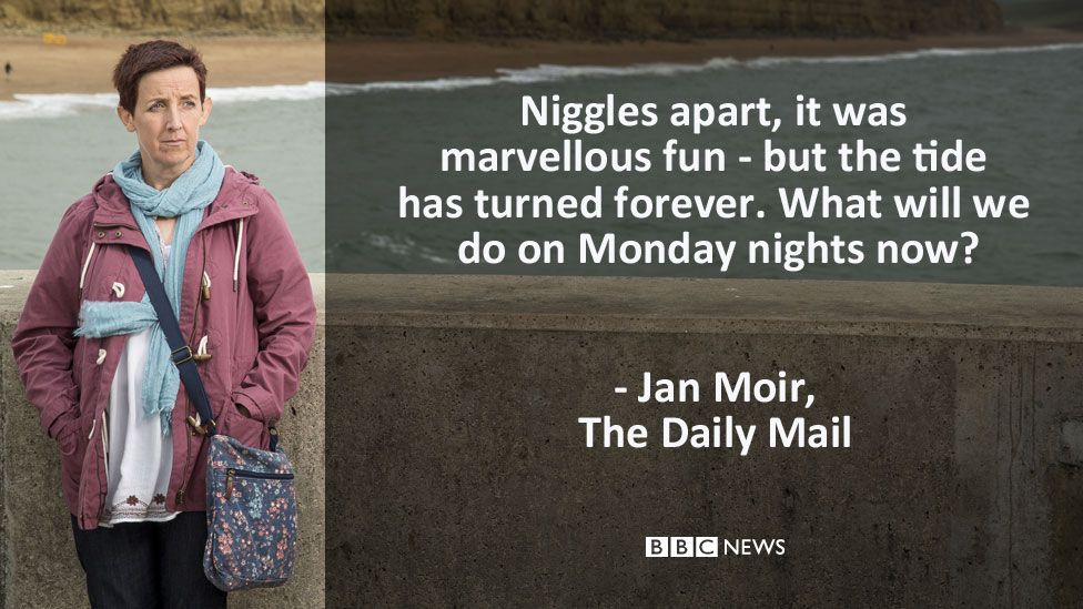 """Jan Moir's review in the Daily Mail: """"Niggles apart, it was marvellous fun - but the tide has turned forever. What will we do on Monday nights now?"""""""