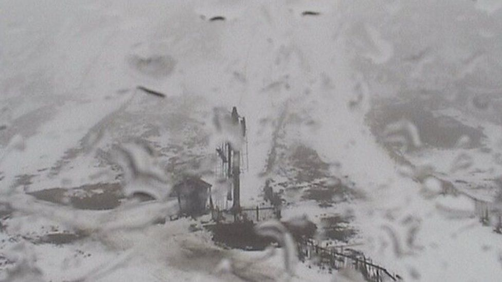 A webcam image showing snow at the Lecht
