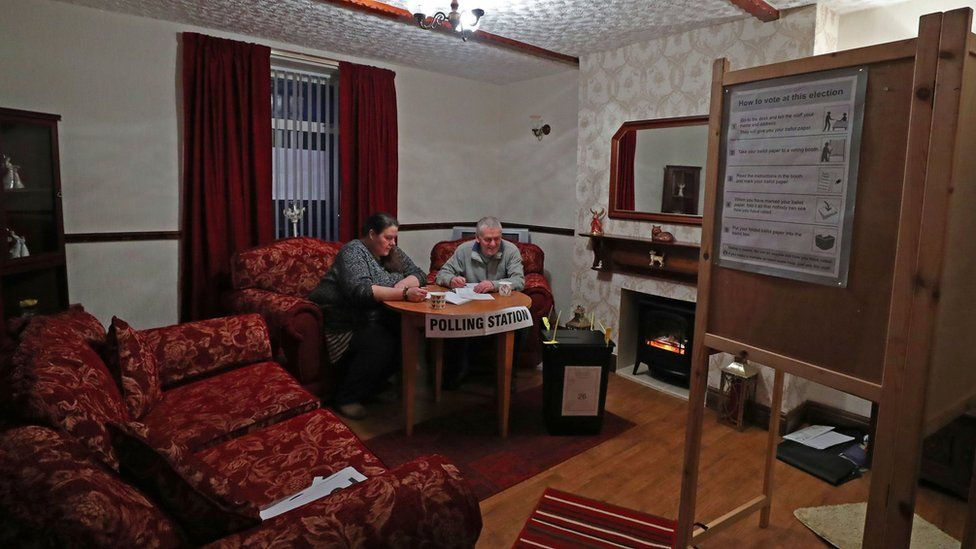 A home in Pica, Cumbria, is being used as a polling station